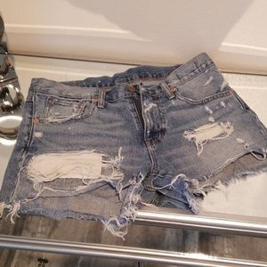 Ralph Lauren distressed shorts